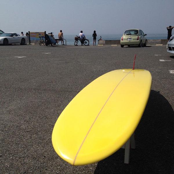 湘南 七里ケ浜駐車場 ロングボード