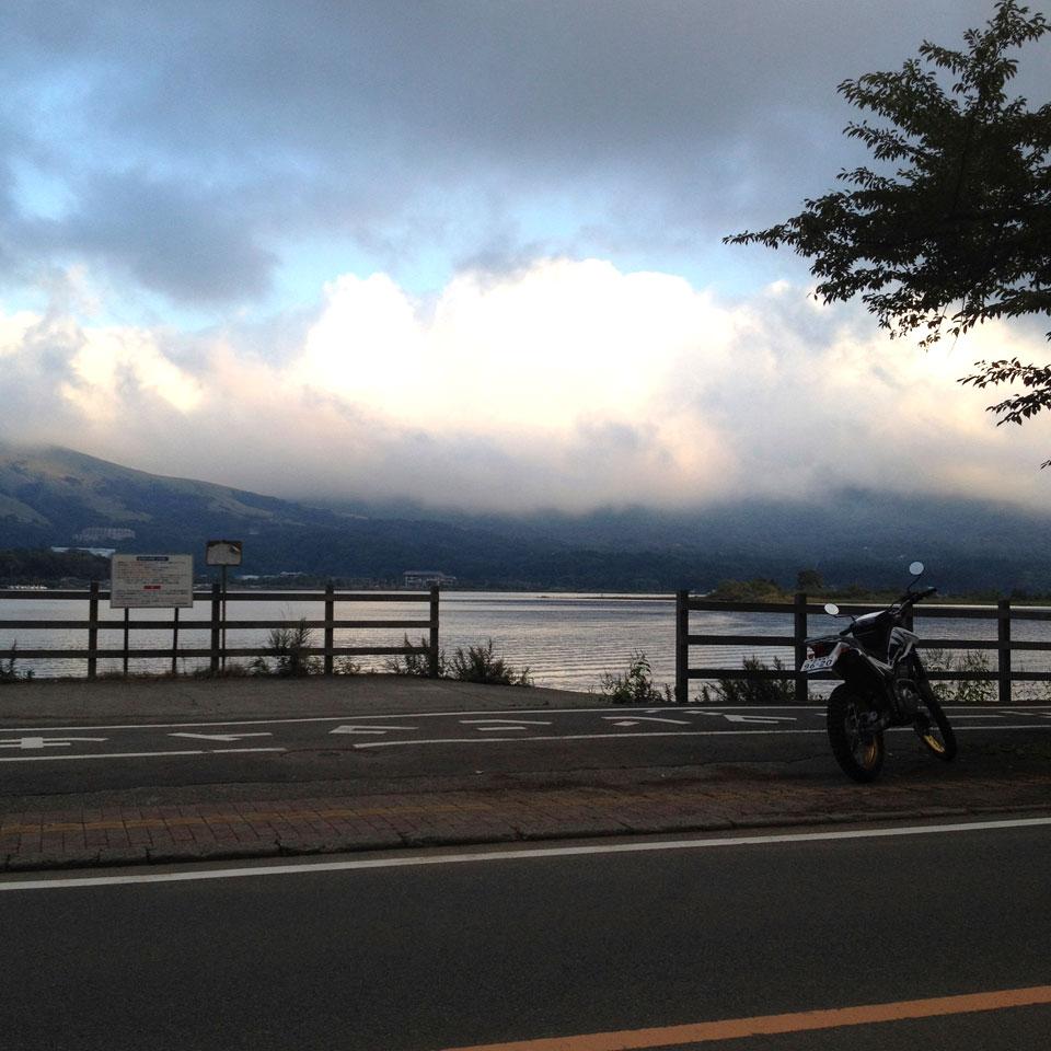 セロー250 山中湖ソロツーリング