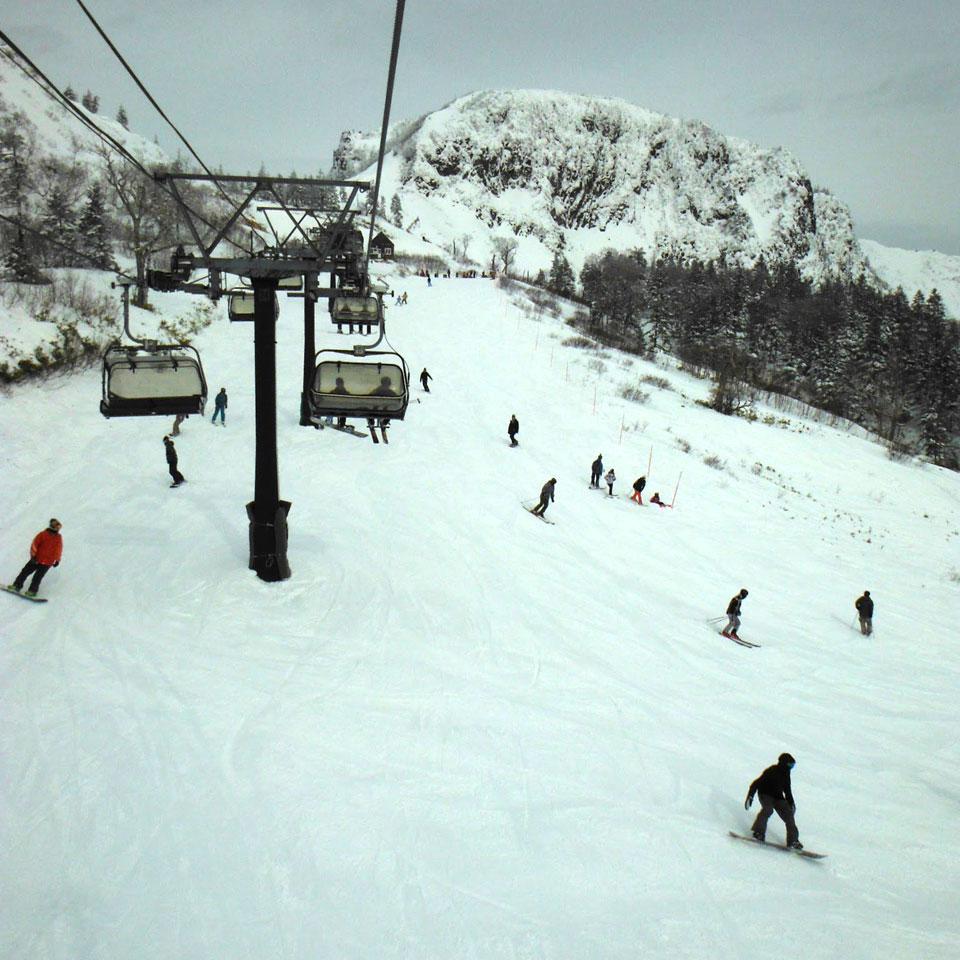 2016/01/22 川場スキー場でスノーボード