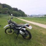 セロー250 多摩川緑地をかるくライド