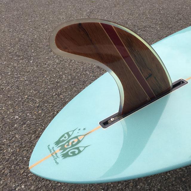 材木座でロングボード